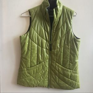 ATHLETA quilted green Vest small s